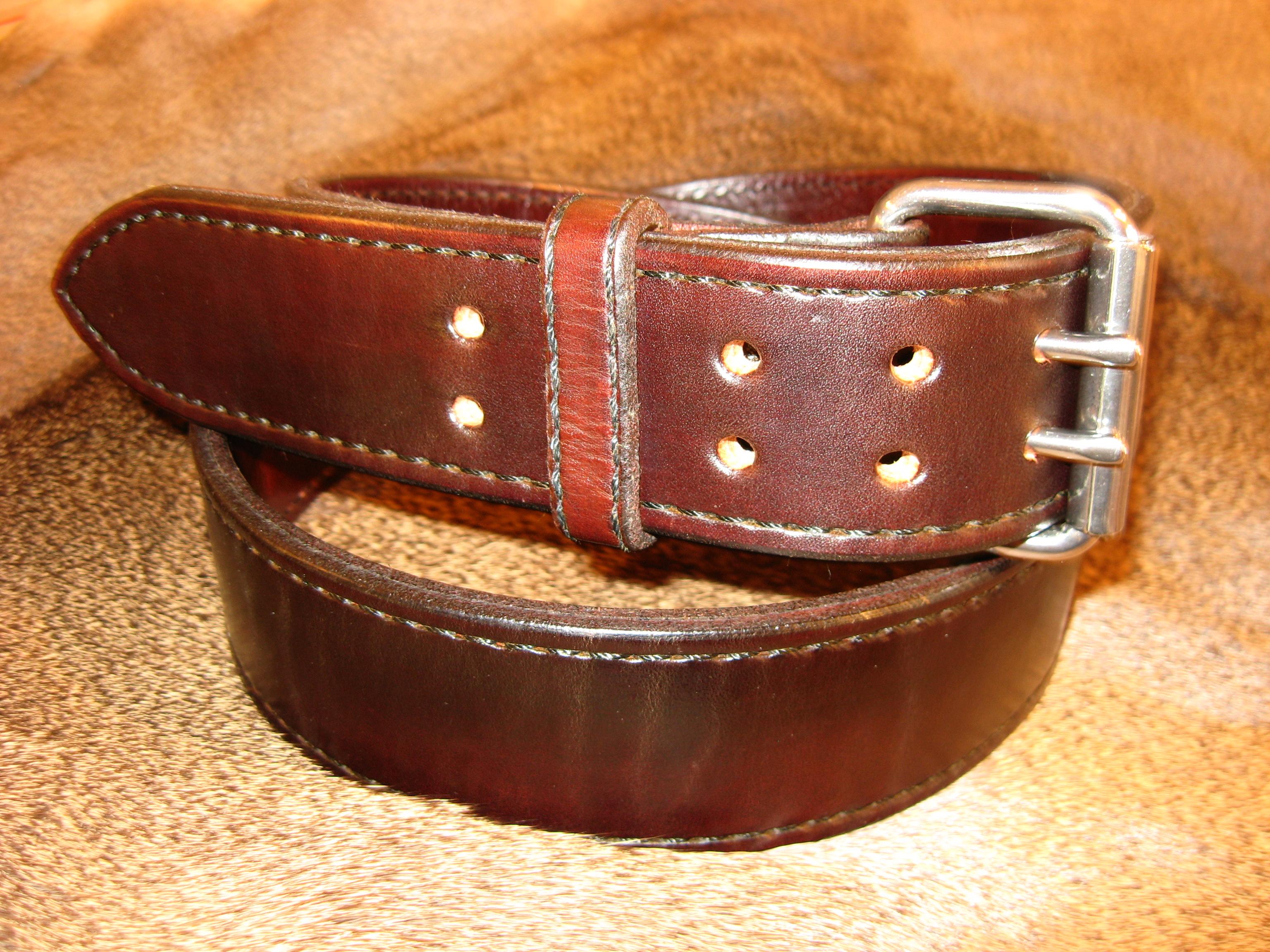 U201cheavy Duty Gun Belt U201d Double Leather With A Width Of 2